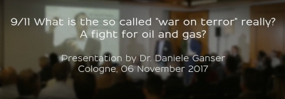Dr. Daniele Ganser: 9/11: What is this War on Terror? (Cologne 6.11.2017)
